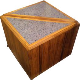 2 Piece Triangular Coffee Table Set