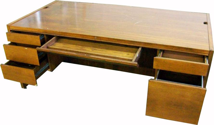 Computer Desk w/Fold Out Storage Bin