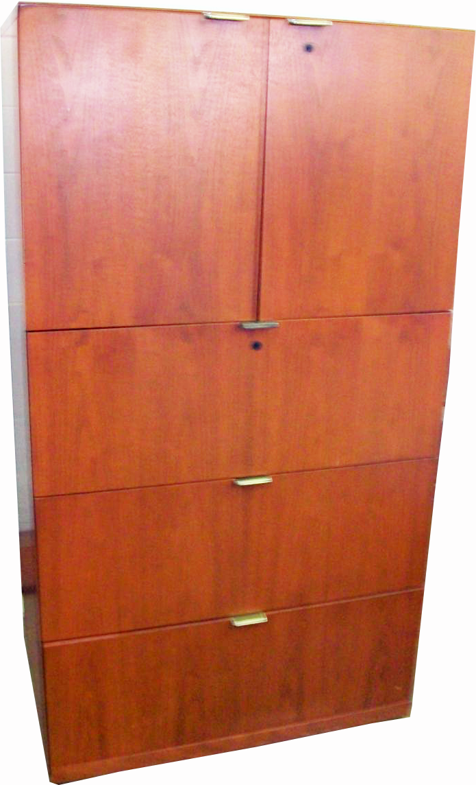 Lateral Executive Storage Cabinet w/Anti Tip Locking Mechanism ...